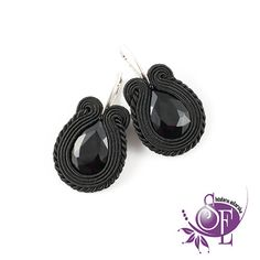 Black soutache earrings by SzkatulkaEmi on Etsy