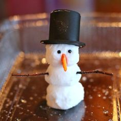 "Use our recipe for Foaming Dough to build snowmen that ""melt"" into an icy puddle of frothy foam!"