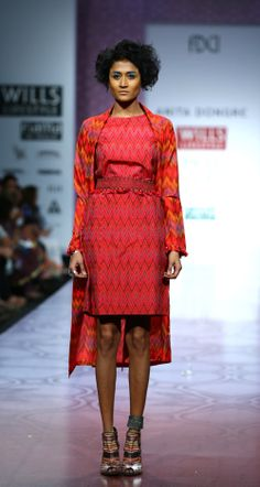 Fall/Winter 2014-15 Midi Dresses, Peplum Dress, Anita Dongre, India Fashion Week, Fall Winter 2014, Designer Collection, Indian Fashion, Geometry, Ethnic
