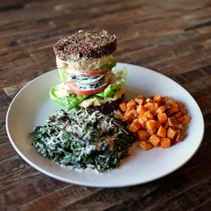 """""""Inside Out"""" Quinoa Burger @ True Food Kitchen, Santa Monica Place, 395 Santa Monica Blvd, Santa Monica, CA 90401, United States"""