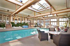 Indoor pool of luxury home in Turner, Oregon