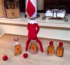 Naughty elf on a shelf Christmas Elf, Christmas Humor, Christmas Ideas, Christmas Stuff, Christmas Decorations, Family Christmas, Cheer Decorations, Christmas Crafts, Naughty Christmas