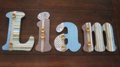 "Liam - 8"" Decoupaged Boys' Nursery or Bedroom by DecorativeDecoupage, $75.00"