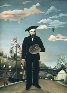 "As a self-taught painter, Henri Rousseau was completely untrained in any established art techniques. He is best known for his naïve, or primitive, childlike jungle scenes. He was good at painting and music as a child, but spent most of his life in the profession of a customs officer at the outskirts of town. Because of this, he was also referred to as Le Douarneir, or the ""Customs Officer."" He started painting seriously at the age of forty and by the time he was 49 he retired from his job…"