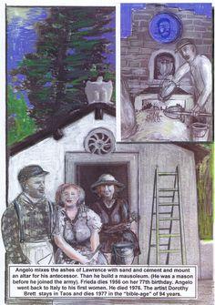 THE REAL STORY OF LADY CHATTERLEY  Makaberes Ende. Friedas Lover Angelo Ravagli gießt die Asche von Lawrence in einen Betonblock, baut ein Mausoleum, heirate Frieda und kehrt nach ihrem Tod als Alleinerbe von Lawrence Nachlass stinkreich nach Italien zurück. Zurück zu seiner Frau, die er mit drei Kindern vor 25 Jahren verlassen hat..