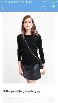 484a18e5f8a Black and A line pleather Leather Fashion