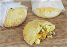 Egg And Sausage Hand Pies: look delicious but seems like a lot of work.