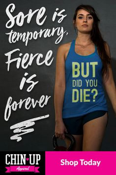 CHIN UP is about feeling confident and being the best version of you, both inside and outside of the gym. Our workout and athleisure apparel will remind you that every step, squat, and pull-up is a victory. It�s time to add a little fun, a little sass, and a lot of inspiration back into your workout routine...keep laughing, keep running, and keep your chin up!