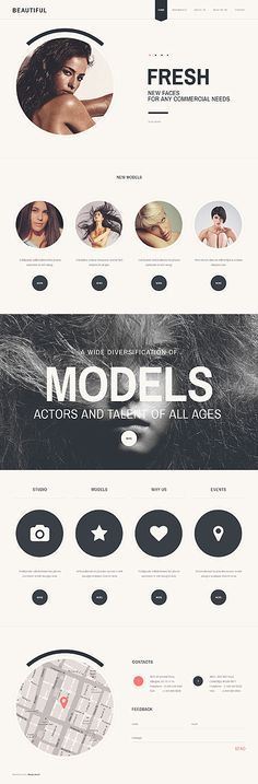 Fashion Models Website Template $67. #Javascript based