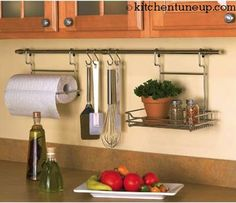 clever idea for small kitchens from kitchentuneup.com
