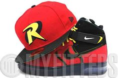 5366765c21f Robin Batman Scarlet Red Jet Black Glacial White Maize Yellow DC Comics New  Era Fitted Hat