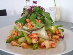Grilled Turbot Fillets at Kahuna Restaurant, Newquay, Cornwall, England