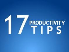 great and simple productivity tips