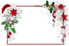 Christmas PNG Photo Frame with Santa Hat and Mistletoe | Gallery Yopriceville - ​High-Quality Images and Transparent PNG Free Clipart