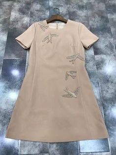 >> Click to Buy << 2017 summer and autumn new women's short-sleeved personality Dingzhu birds birds dress 714 #Affiliate