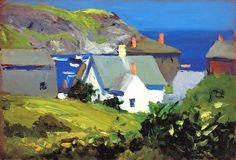Monhegan houses, Maine, 1916-19, Edward Hopper