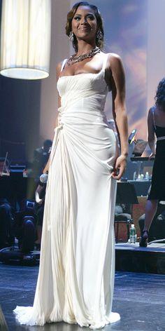 Beyonce in White Dresses — Beyonce Wearing Wedding Dresses Red Carpet…