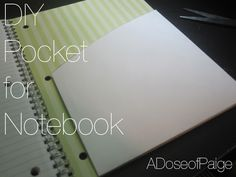 Notebooks with no pockets can be annoying. Here's a quick fix for adding your own pocket to any notebook with just a few supplies!
