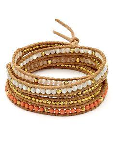 Chan Luu Swarovski Crystal Wrap Bracelet