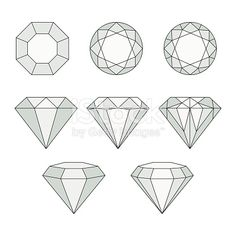 Set of isolated gem stones.Vector set of diamond design elements. Set of isolated gem stones.Vector set of diamond design elements. Set of isolated ge. Diamond Logo, Diamond Vector, Diamond Tattoos, Diamond Art, Diamond Design, Diamond Doodle, Diamond Rings, Diamond Icon, Diamond Gemstone