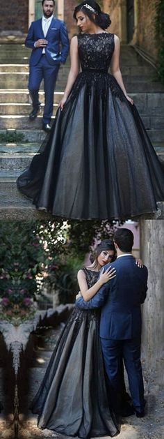 A-line Bateau Floor-length Sleeveless Tulle Prom Dress/Evening Dress #VB270