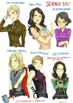 Loki turned into a woman in the comics. I remember that. Fem! Loki was fab