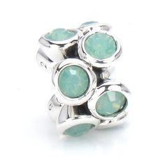 Bella Fascini Swarovski Pacific Opal Green Rounds - Solid Sterling Silver European Bead Charm - Fits Perfectly on Chamilia Moress Pandora Troll and Compatible Brand Bracelets Bella Fascini Beads,http://www.amazon.com/dp/B009BXRUNC/ref=cm_sw_r_pi_dp_DQuQsb0BW5T4SF91