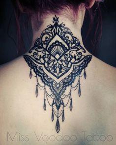 Source: Miss VooDoo Tattoo Diy Tattoo, Tatoo Art, Body Art Tattoos, New Tattoos, Tatoos, Tattoo Blog, Neck Tattoo For Guys, Tattoos For Guys, Nape Tattoo