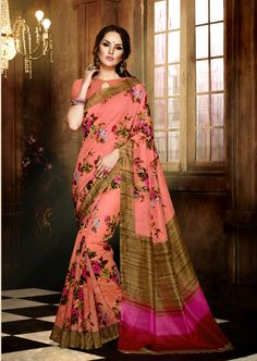 http://www.thatsend.com/shopping/lp/fvp/TESG166142/qf/color[]pink  Pink Silk Casual Saree Apparel Pattern Printed. Work Print. Blouse Piece Yes. Occasion Festive. Top Color Pink.