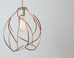 Pendant Light Industrial Cage Lighting Edison by KhalimaLights