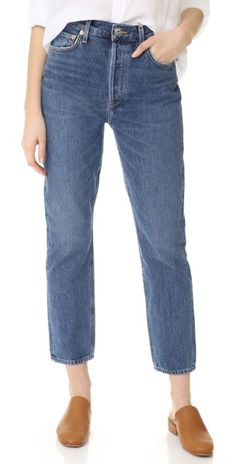 AGOLDE Riley High Rise Straight Crop Jeans | SHOPBOP