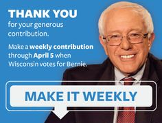 ActBlue — Thank you for adding your name. Can you add a contribution to Bernie?