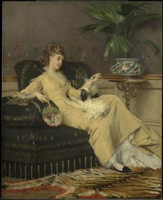 1875, Gustave Léonard de Jonghe - Woman in Yellow