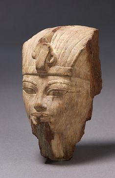 TDO 5 - Tête du roi - NE XVIIIe dyn Amenhotep III (1391-1353 av. J.-C.) - Marché de l'art - Stéatite - H=12cm - Paris, mdL