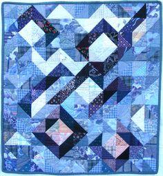 Half square triangle quilt by Rebecca Winter | Winterbourne Studio | workshop