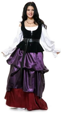 Charades Renaissance Purple Country Wench Adult Costume As Shown - Medium  #Adult #AdultCostume #Charades #Costume #Country #Medium #Purple #Renaissance #Shown #Wench Halloween Spirit