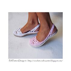 Lacey SlingBack Slippers  One-Piece Basic Crochet Pattern