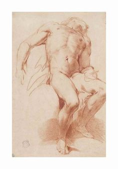 Painted or drawn male nudes to draw inspiration from for our photography. Carlo Donelli, il Vimercati (Milan A seated male nude Estimate GBP - GBP (USD - USD Guy Drawing, Drawing Poses, Life Drawing, Figure Sketching, Figure Drawing Reference, Art Case, Old Master, Illustrations, Crayon