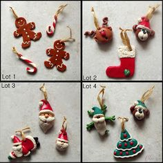 Deco de noel Créanella Polymer Clay Halloween, Cute Polymer Clay, Polymer Clay Charms, Diy Christmas Ornaments, Christmas Decorations, Holiday Decor, Xmas Pictures, Crafts For Kids, Diy Crafts