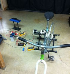 Make a bicycle powered generator at home!