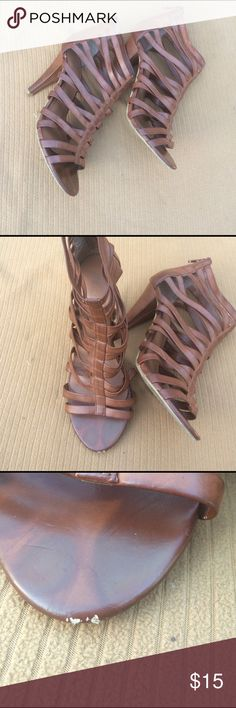 Forever 21 sandal heel sz 8 Small nicks on toe of shoes can be dyed good condition Forever 21 Shoes Heels