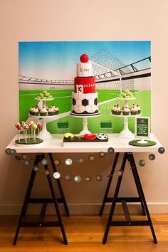 S sports birthday party dessert table ideas soccer theme parties, New Birthday Cake, Birthday Party Desserts, Birthday Presents, Boy Birthday, Birthday Crafts, Soccer Theme Parties, Party Themes, Party Ideas, Sports Birthday