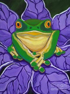 Green Frog Painting by Nick Gustafson - Green Frog Fine Art Prints and Posters for Sale