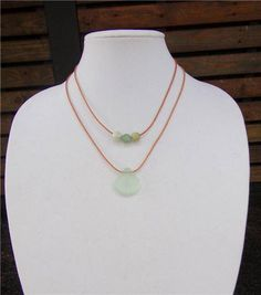 Glass Sand Dollar and Large Hole Glass Beads and Leather Necklace Boho Chic N139 Soul of the Sea