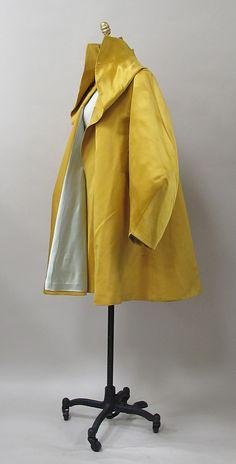 Evening coat Charles James (American, born Great Britain, 1906–1978) Date: 1947 Culture: American Medium: silk