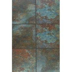 """Mohawk Industries 5433Q Terrabella 18"""" x 18"""" Graphite / Copper Ceramic Tile Flooring"""