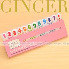 Number Figure Slim 180 pages  Sticker Post It Bookmark Mark Sticky Notes (AB03) #Others0