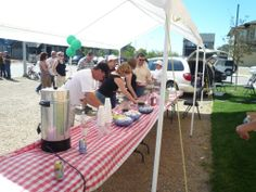 Residents celebrate summer with a Pancake Breakfast. www.cooperscrossing.ca #coopersairdrie