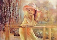Girl in Art - Art, leány, meglehetősen, Hat