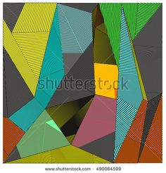 Abstract modern triangles background pattern illustration. Space layout and design template. Composition of pattern with Memphis colors and style.